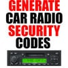 CAR RADIO DECODE CODE RETRIEVE BY S/N