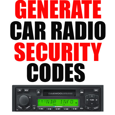 Product picture CAR RADIO DECODE CODE RETRIEVE BY S/N