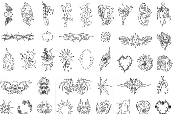 Product picture 1000 COOL AIRBRUSH TATTOO STENCILS TRIBLE HEARTS BIKE VAN CAR